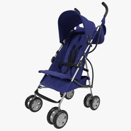 Baby Stroller Blue. Preview 1