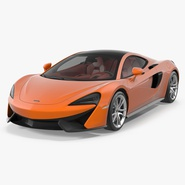 Sports Car McLaren 570GT 2017 Simple Interior. Preview 1
