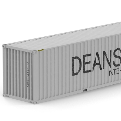 40 ft High Cube Container White. Render 21