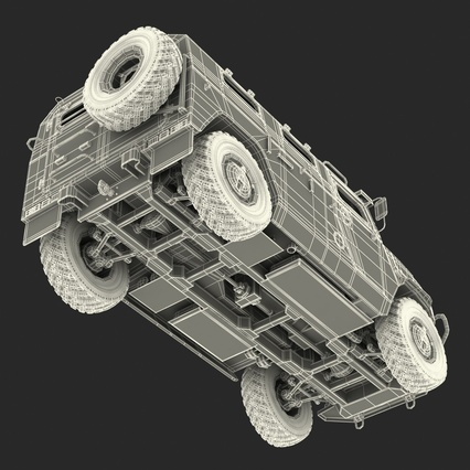 Russian Mobility Vehicle GAZ Tigr M Rigged. Render 78