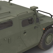 Russian Mobility Vehicle GAZ Tigr M Rigged. Preview 41