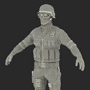SWAT Man Mediterranean Rigged for Cinema 4D. Preview 53