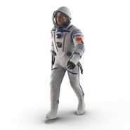 Russian Astronaut Wearing Space Suit Sokol KV2 Rigged for Maya. Preview 3
