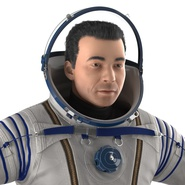 Russian Astronaut Wearing Space Suit Sokol KV2 Rigged for Maya. Preview 28