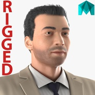 Mediterranean Businessman Rigged 2 for Maya