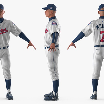 Baseball Player Rigged Twins 2. Render 6