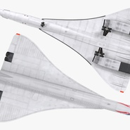 Concorde Supersonic Passenger Jet Airliner British Airways Rigged. Preview 12