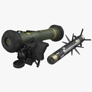 Anti Tank Missile FGM-148 Javelin Set Rigged
