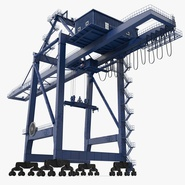Container Crane Blue. Preview 1