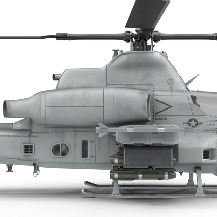 Attack Helicopter Bell AH 1Z Viper Rigged. Render 78