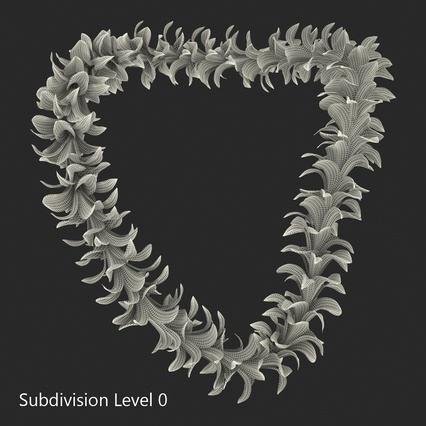 Hawaiian Leis Collection. Render 19