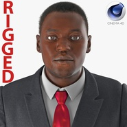 Businessman African American Rigged for Cinema 4D
