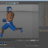 African American Boxer Rigged for Cinema 4D. Preview 24