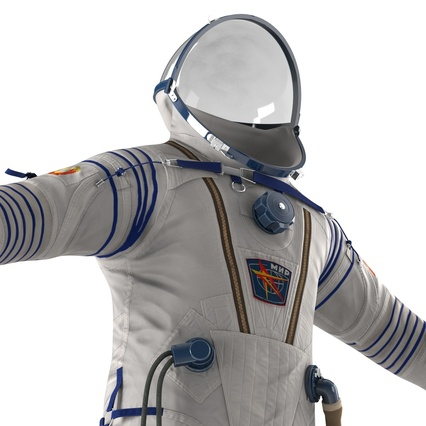 Russian Space Suit Sokol KV2 Rigged. Render 32