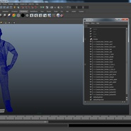 Construction Worker Black Uniform Standing Pose. Preview 22