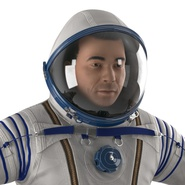 Russian Astronaut Wearing Space Suit Sokol KV2 Rigged for Maya. Preview 27