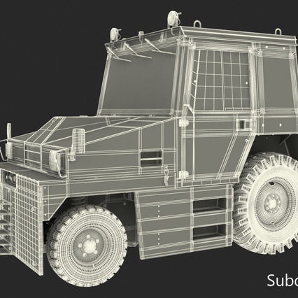 Push Back Tractor Hallam HE50 Rigged. Render 22