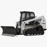 Compact Tracked Loader Bobcat With Blade