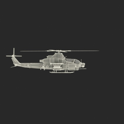 Attack Helicopter Bell AH 1Z Viper Rigged. Render 7