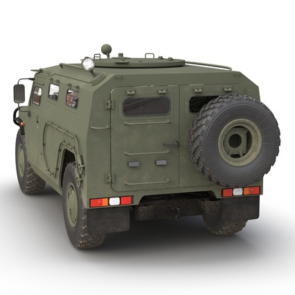 Russian Mobility Vehicle GAZ Tigr M Rigged. Render 19