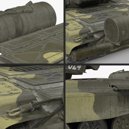 T72 Main Battle Tank Camo Rigged. Render 15