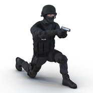 SWAT Man Mediterranean Rigged for Cinema 4D. Preview 4