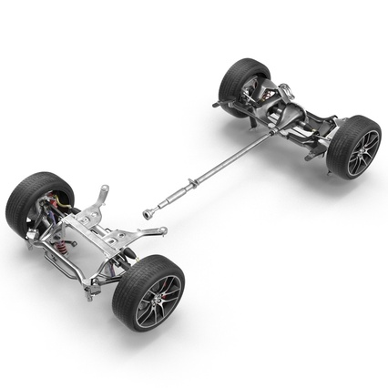 Sedan Chassis. Render 15
