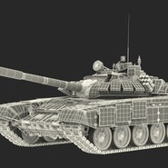 T72 Main Battle Tank Camo Rigged. Preview 23