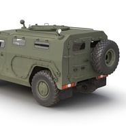 Russian Mobility Vehicle GAZ Tigr M Rigged. Preview 31