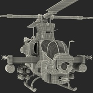 Attack Helicopter Bell AH 1Z Viper Rigged. Preview 92