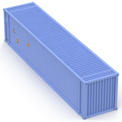 45 ft High Cube Container Blue. Render 14
