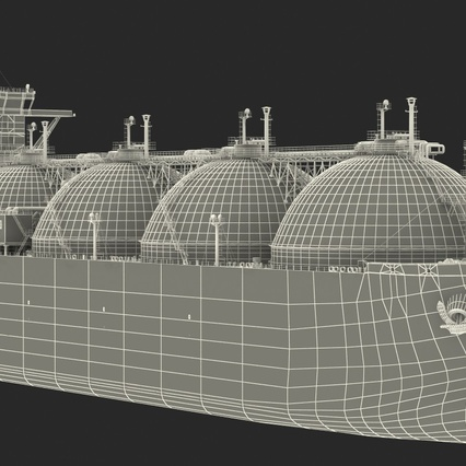 Gas Carrier Ship. Render 30