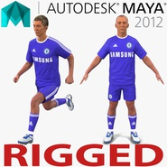 Soccer Player Chelsea Rigged 2 for Maya