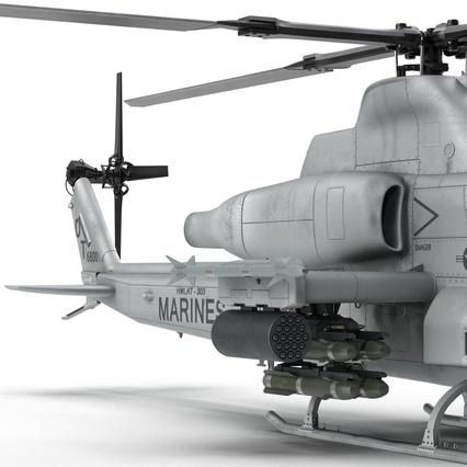 Attack Helicopter Bell AH 1Z Viper Rigged. Render 52
