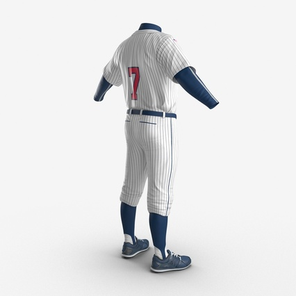 Baseball Player Outfit Generic 8. Render 11