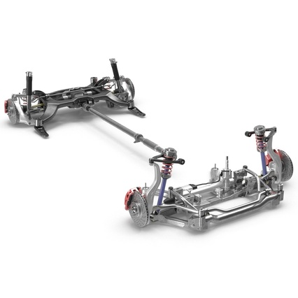 Sedan Chassis. Render 31