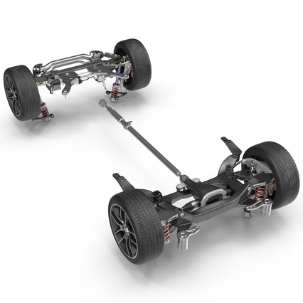 Sedan Chassis. Render 14