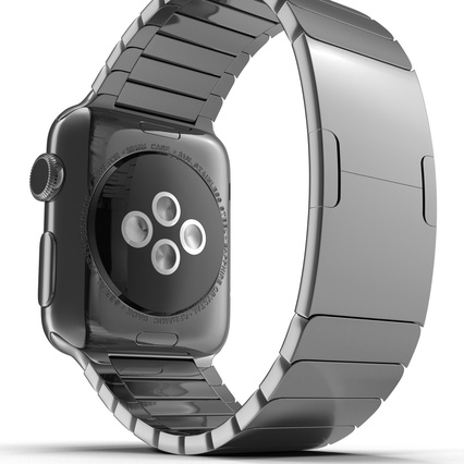 Apple Watch 38mm Link Bracelet Dark Space 2. Render 26