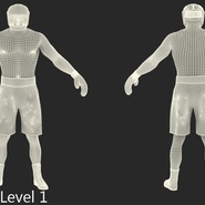 African American Boxer Rigged for Cinema 4D. Preview 26