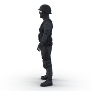 SWAT Man Mediterranean Rigged for Cinema 4D. Preview 16
