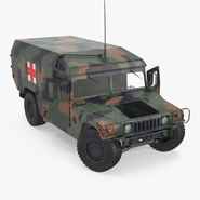 Mini Ambulance Military Car HMMWV m996 Rigged Camo