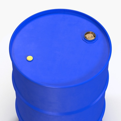 Oil Drum 200l Blue. Render 10