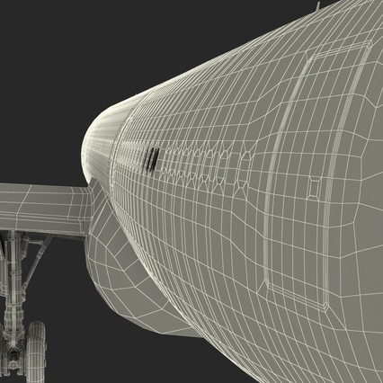 Jet Airliner Airbus A330-200 Northwest Airlines Rigged. Render 74
