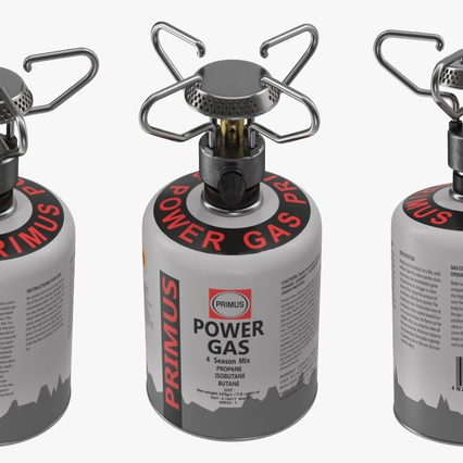 Gas Cylinder with Camping Stove. Render 6