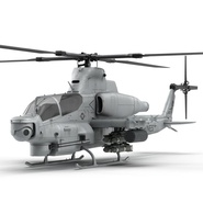 Attack Helicopter Bell AH 1Z Viper Rigged. Preview 21