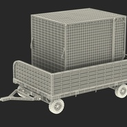 Airport Luggage Trolley with Container Rigged. Preview 7