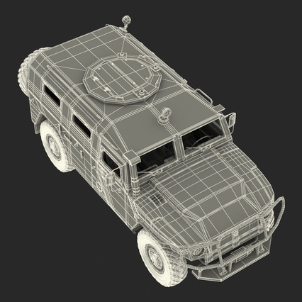 Russian Mobility Vehicle GAZ Tigr M Rigged. Render 76