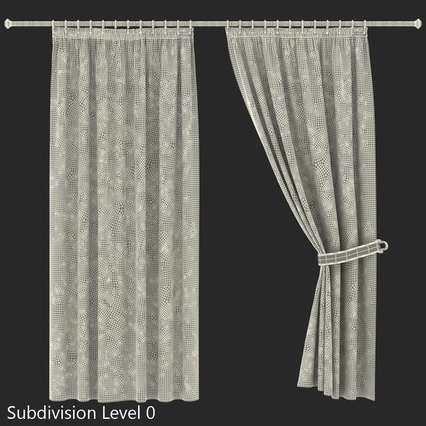 Curtains Collection. Render 56