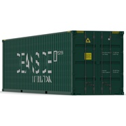40 ft High Cube Container Green. Preview 2
