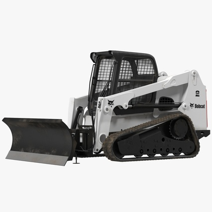 Compact Tracked Loader Bobcat With Blade. Render 1